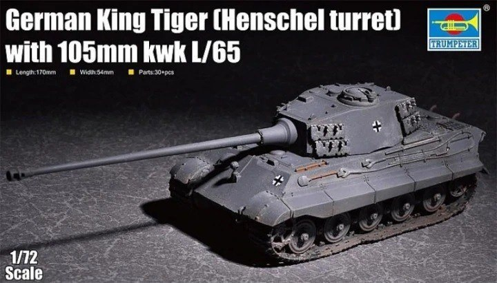 Plastikowy model do skejania King Tiger w/ 105mm kWh (Henschel Turret)