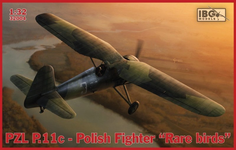 Model do sklejania IBG PZL P.11c Polish Fighter Rare Birds
